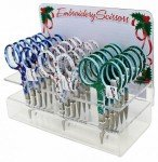 Embroidery Scissors Clear Display Holiday Patterns 18ct