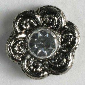 Button - Rhinestone Flower