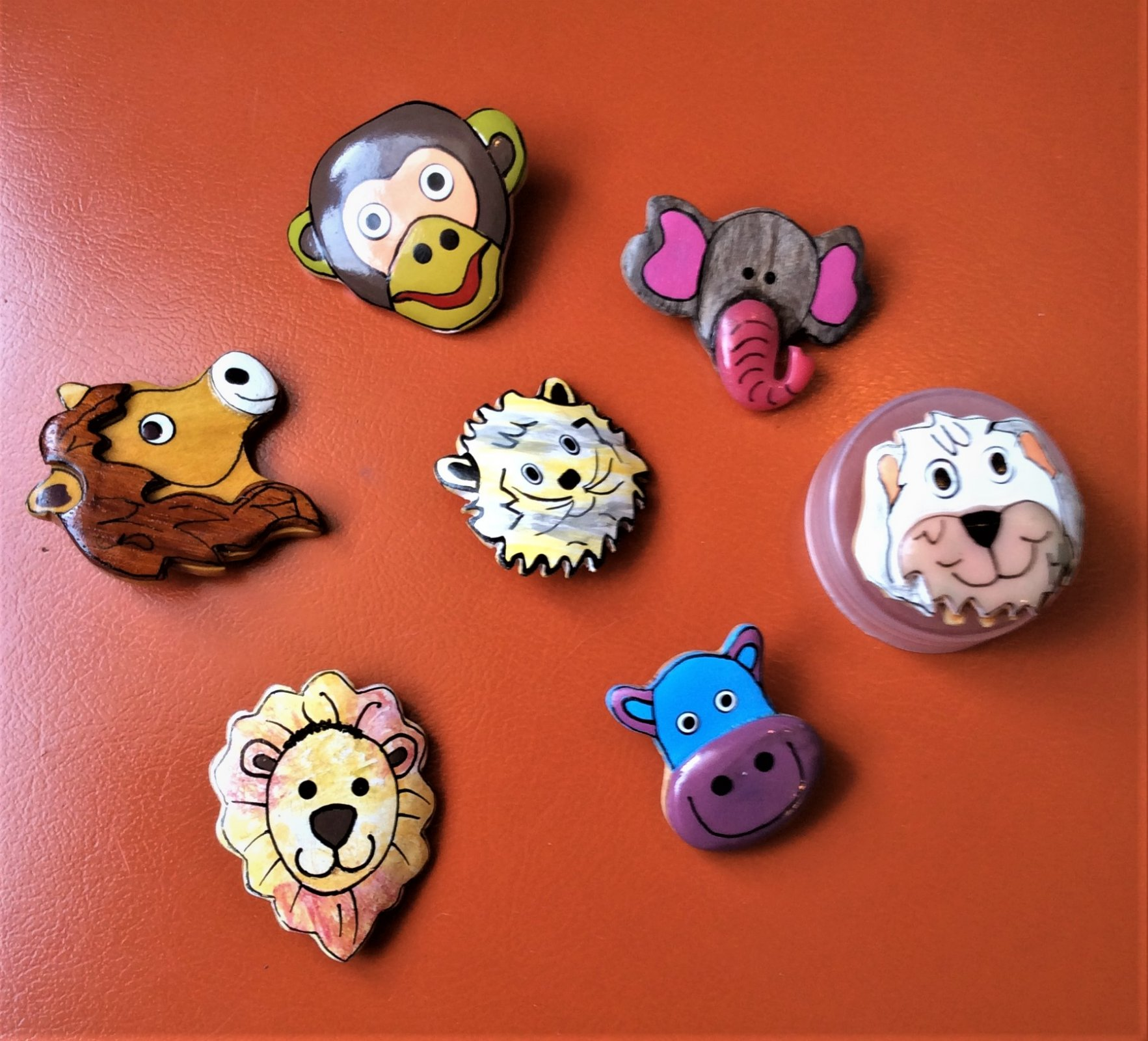Button - Wood Animal Assorted