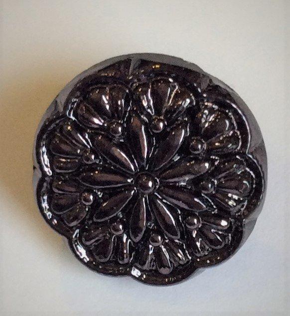 Button - Glass Star Flower 14 mm
