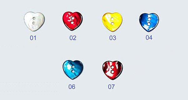 Button - MOP Heart