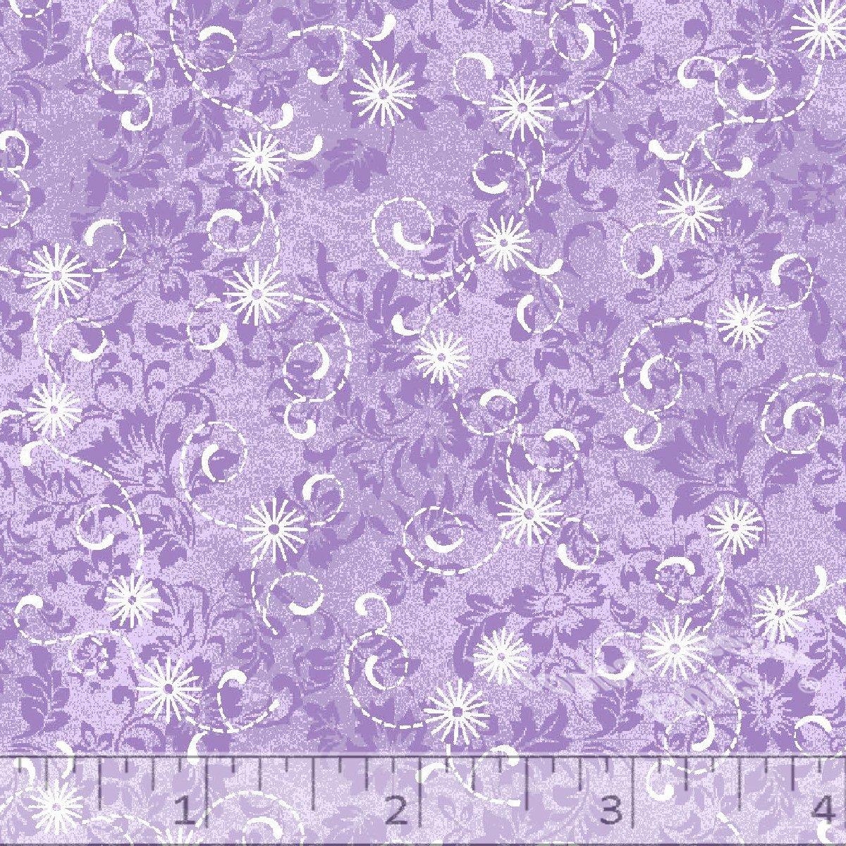 Lavender Eyelet Print