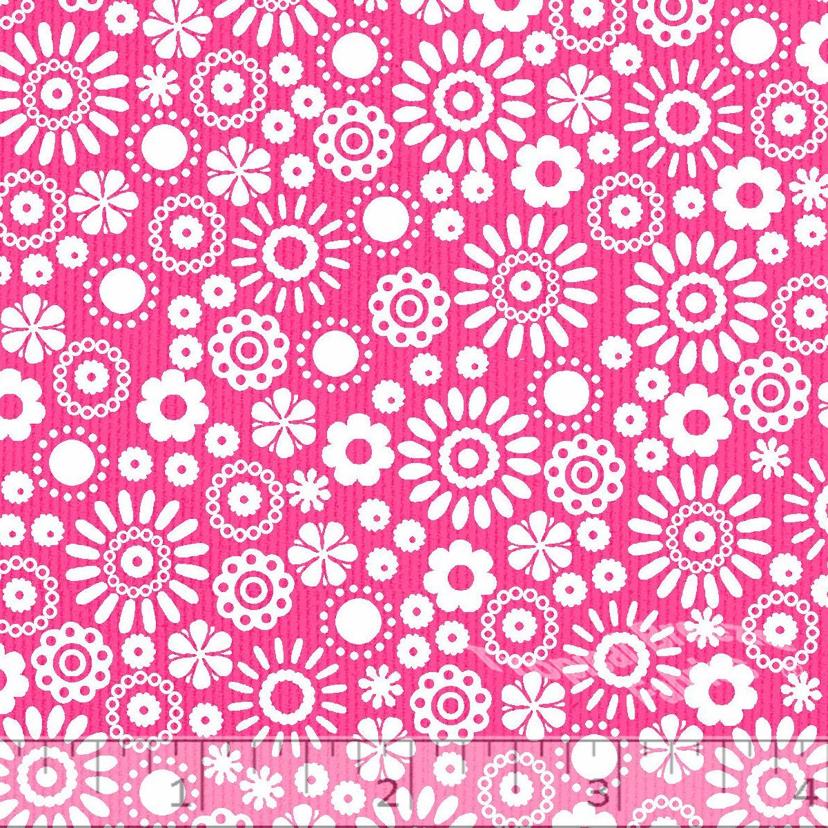 Hot Pink Flower Power Dobby Pique