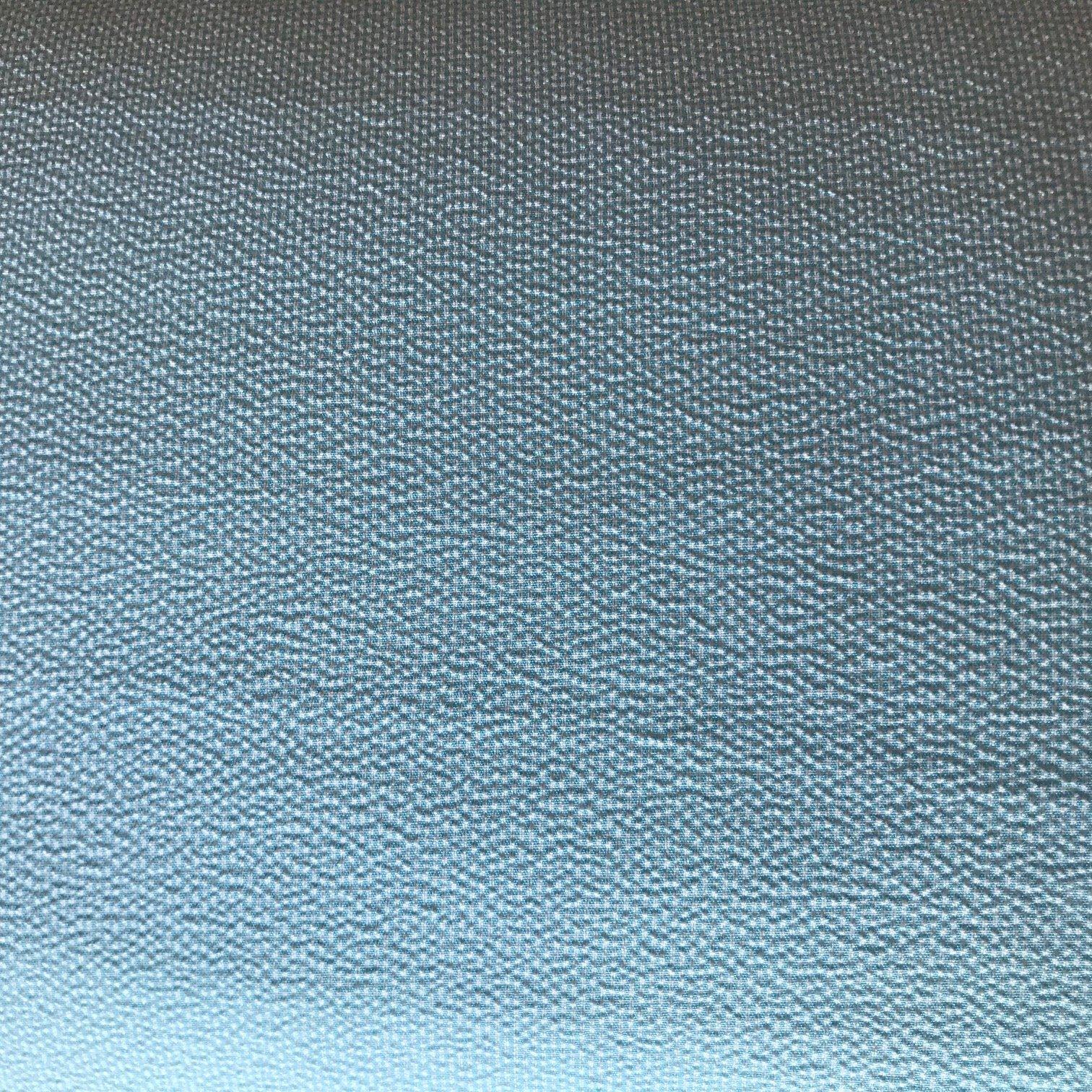 Aqua Seersucker Houndstooth 100% Polyester 58 wide