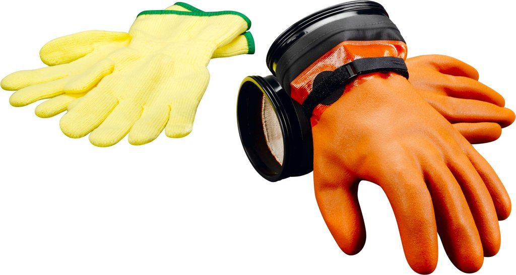 DUI ZIP SEAL GLOVES - MAX DEXTERITY (ORANGE)