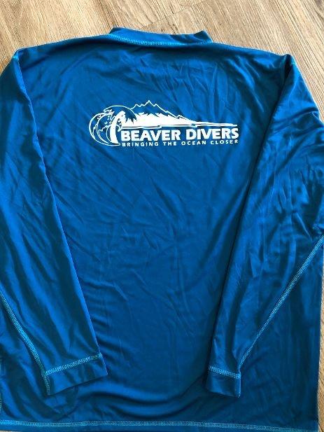 Men's Beaver Divers Logo Rash Guards