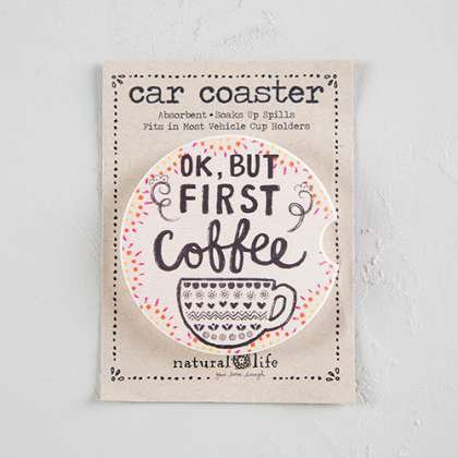 car coaster  OK but first coffee - single