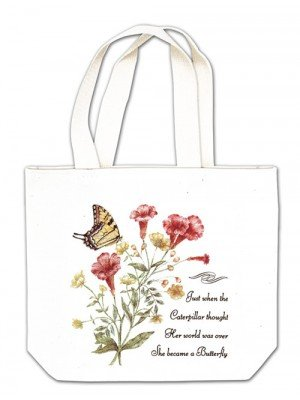 Caterpillar to Butterfly gift tote