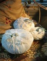 Cream lace pumpkins large