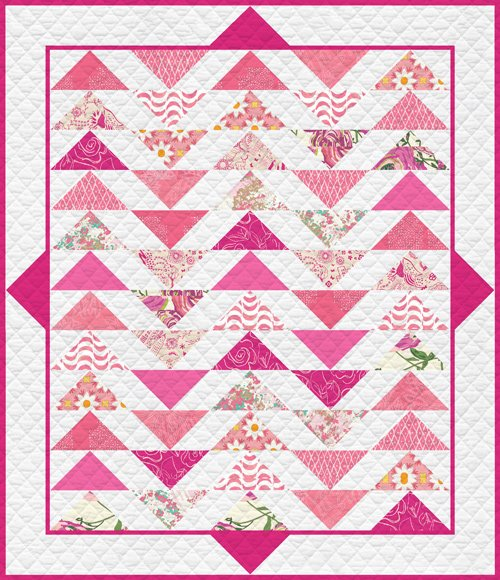 Plenum Quilt, Life is Pink fat quarter kit T