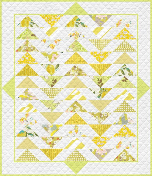 Plenum Quilt Lemon Green fat quarter kit T