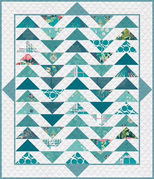 Plenum Quilt Teal Thoughts fat quarter kit T