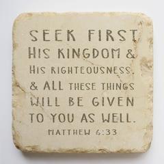 coaster (Matt. 6:33) 4x4