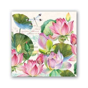 Water Lilies Cocktail Napkin