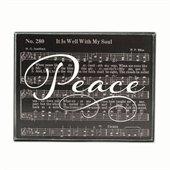 Peace classic hymn box sign