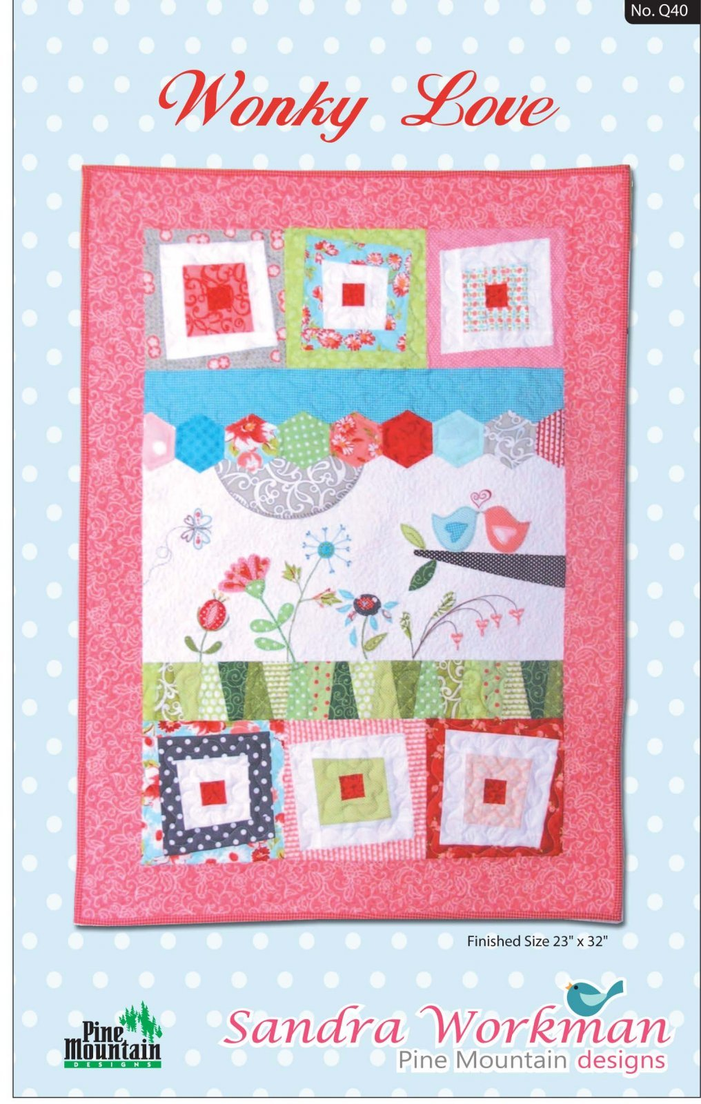 Wonky Love pattern Sandra Workman