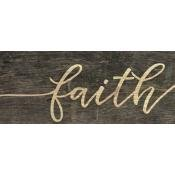Faith wooden sign 2.5x6