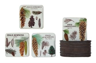 Resin Coasters in metal container