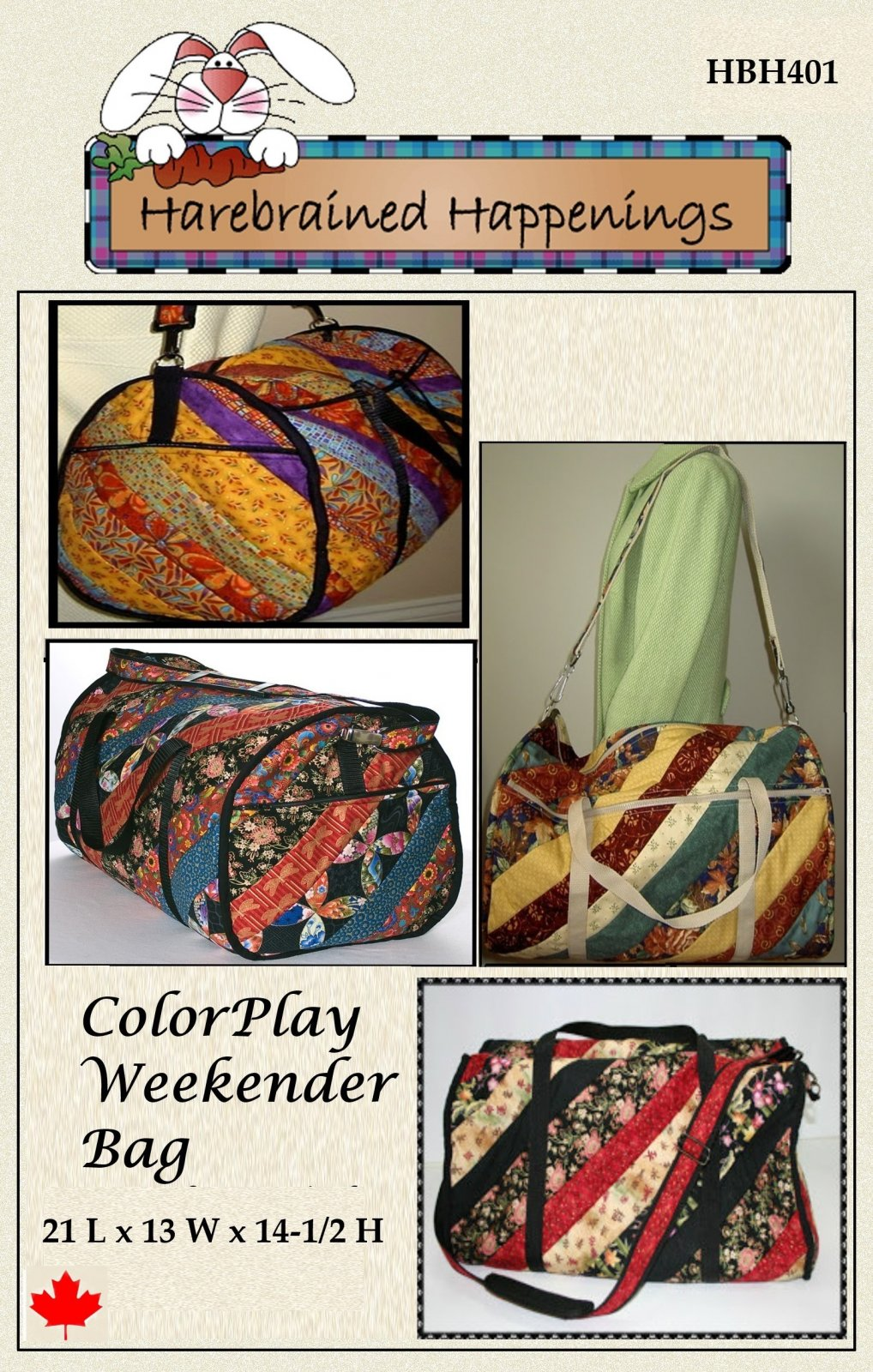 HBH401 ColorPlay Weekender Bag