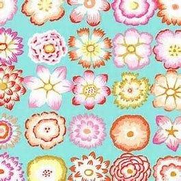 **Kaffe Fassett Button Flowers Aqua