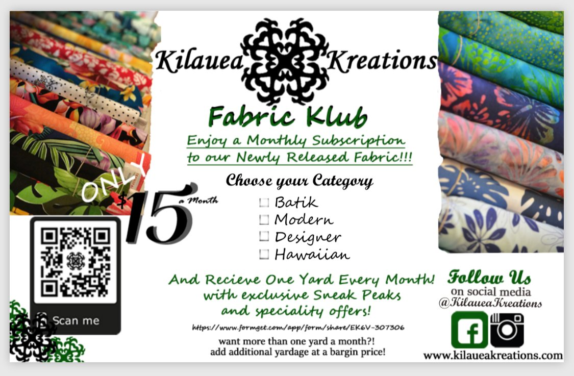 Join Our Fabric Klub!!!