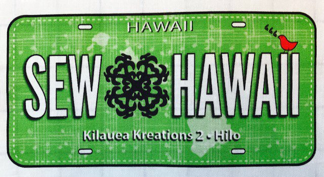 Sew Hawaii RxR Fabric Plate 2018