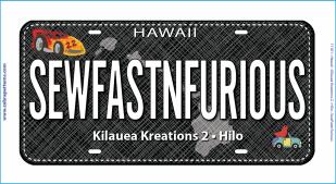 Sew Fast N Furious RxR Fabric Plate 2017