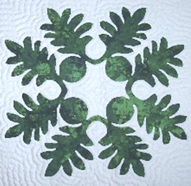 Ulu II Hawaiian Quilt Pillow Pattern