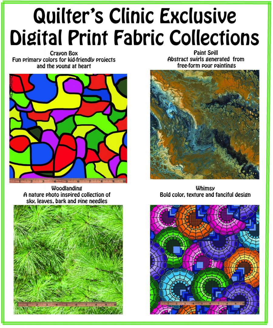 Quilter's Clinic Exclusive Digital Prints
