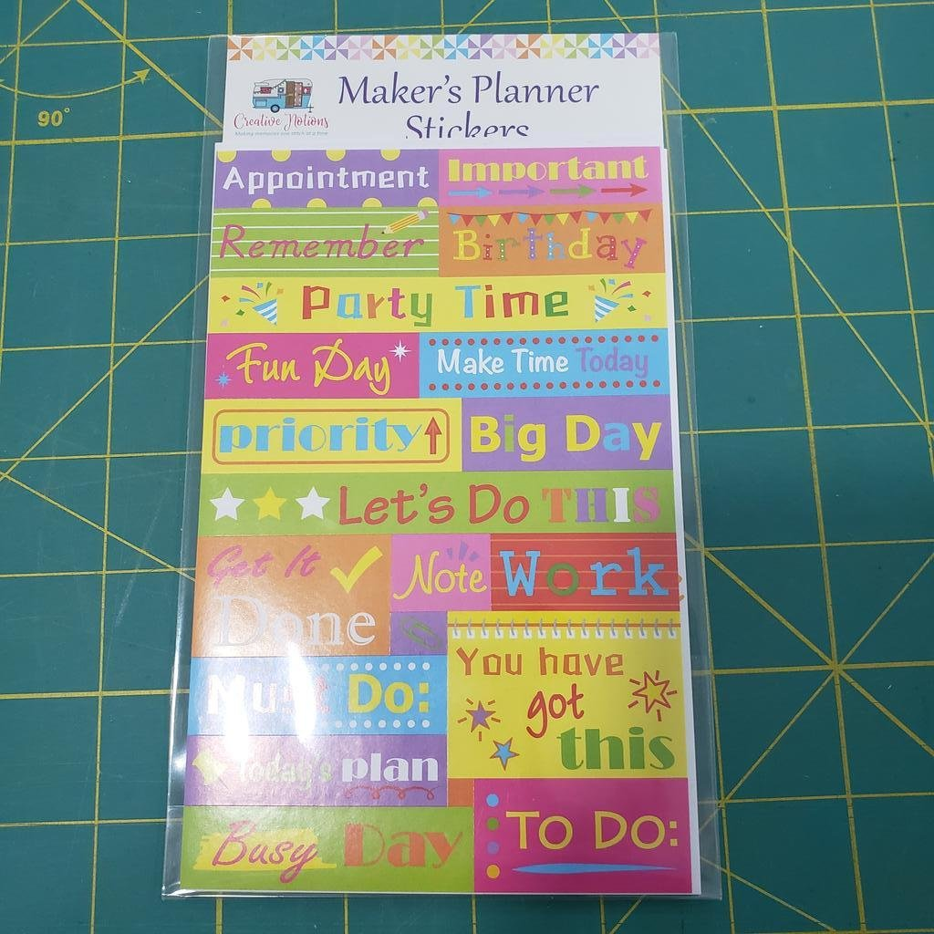 Maker's Planner Stickers