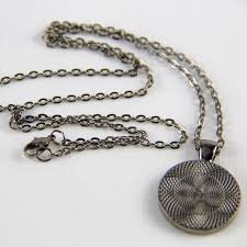 Zappy Dots Oval Chain Necklace - Gunmetal
