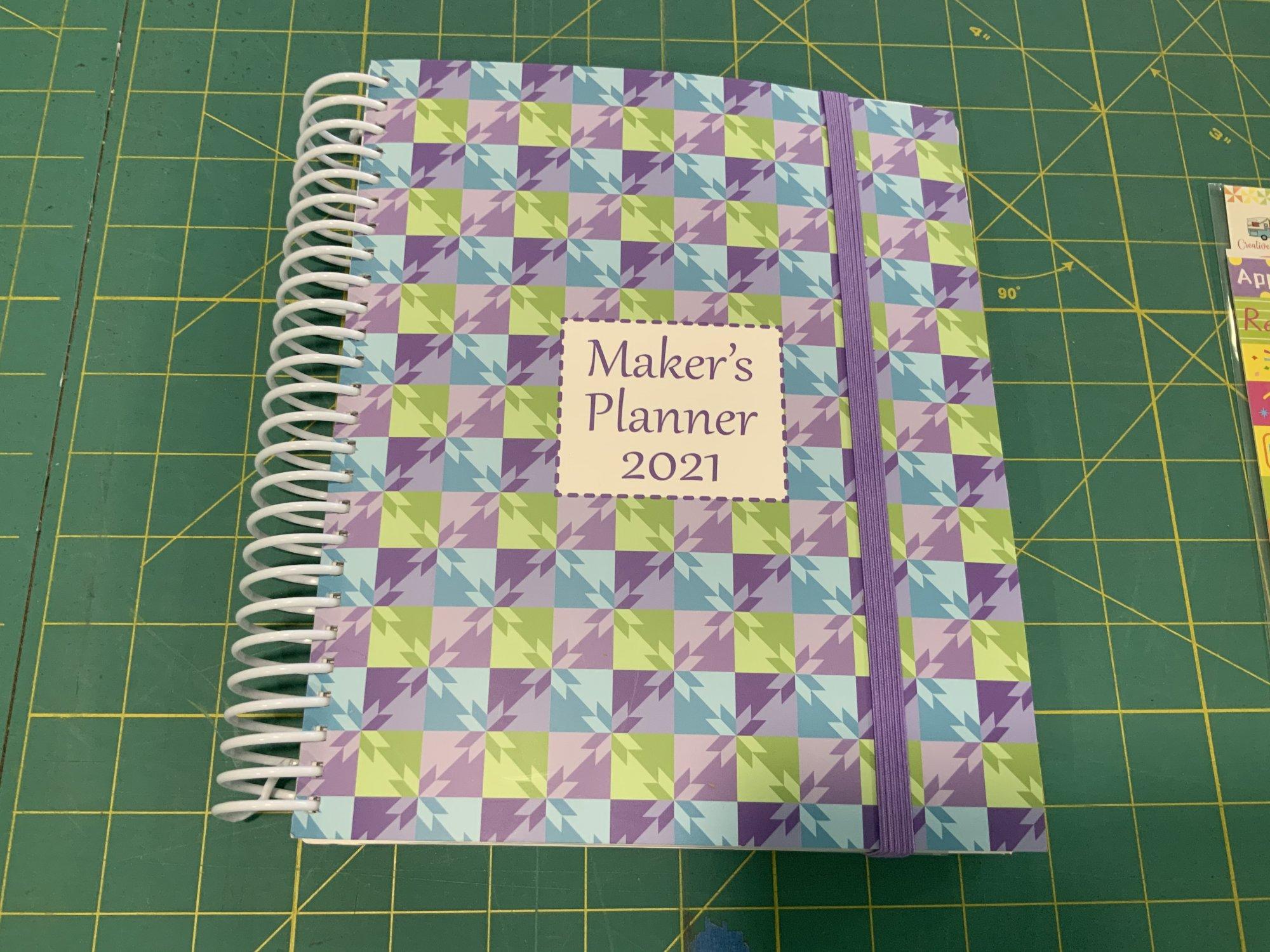 Maker's planner 2021