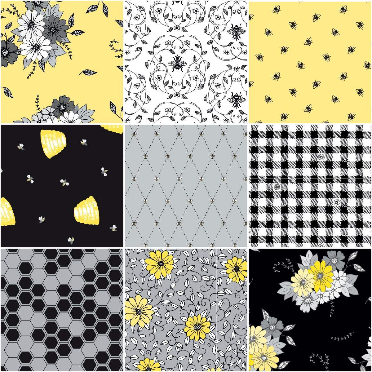 Honey Run by Jill Finley  black with yellow hives(bottom row far right)