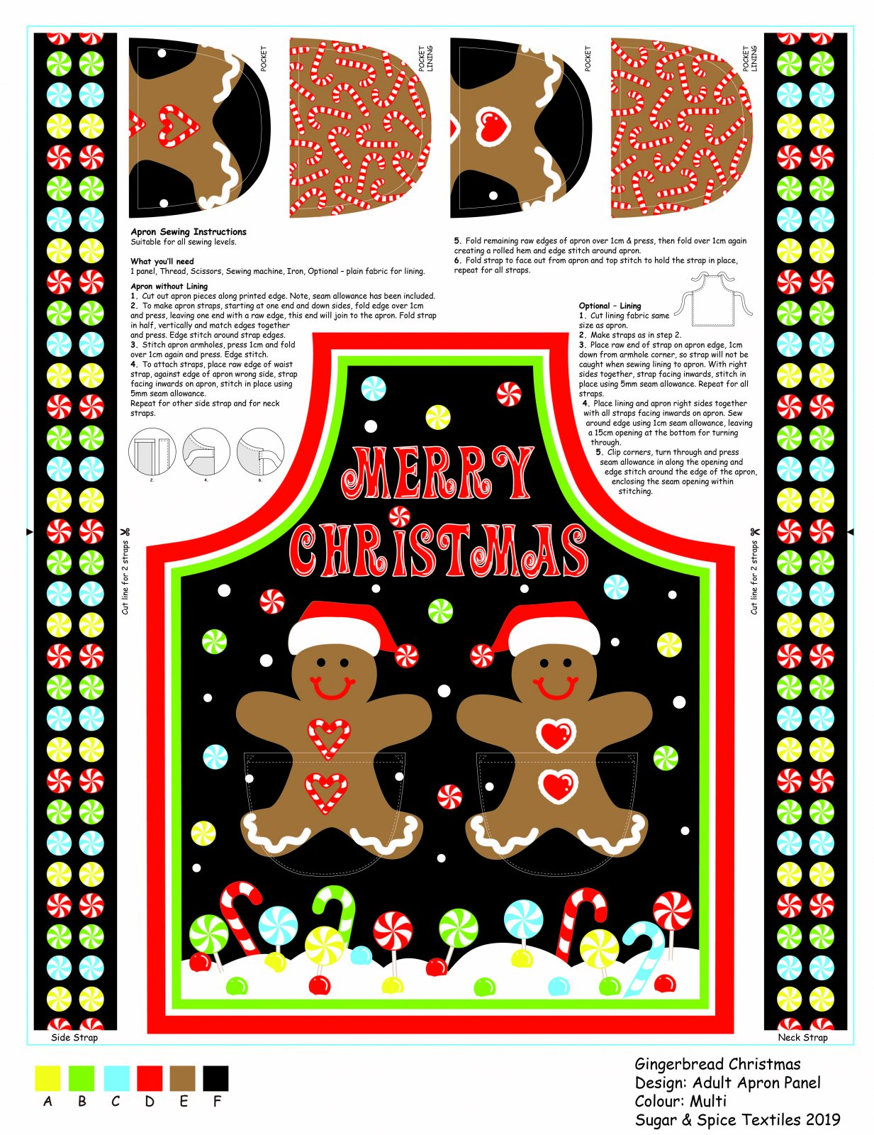 Gingerbread Apron Panel