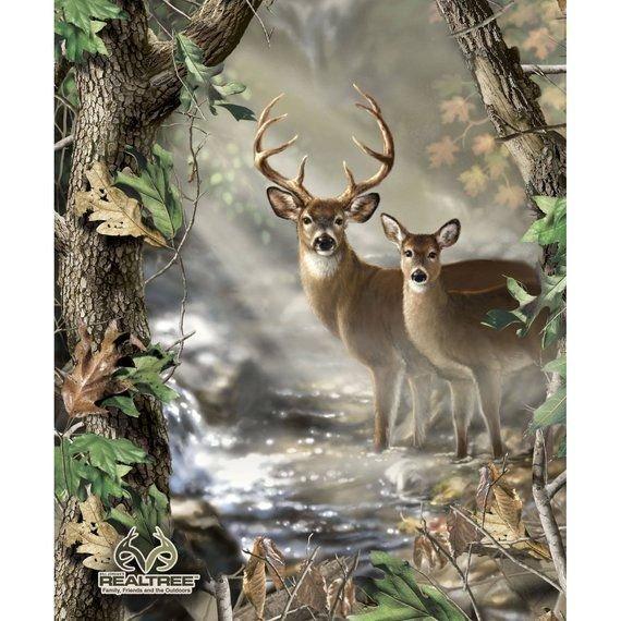 Reel Tree Deer Panel Quilt Kit