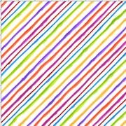 QUIRKY BIAS STRIPE WHITE FABRIC LORALIE DESIGNS