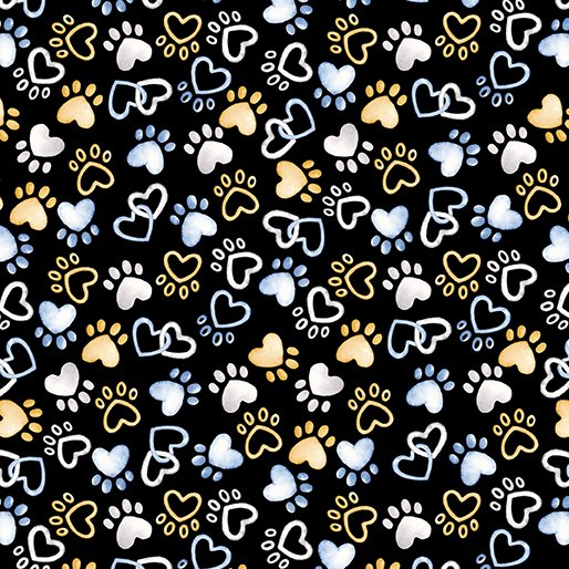 THINK PAWSITIVE PAWFECT PAWS BLACK
