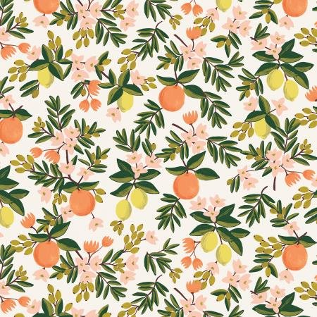 PRIMAVERA CITRUS FLORAL CREAM FABRIC