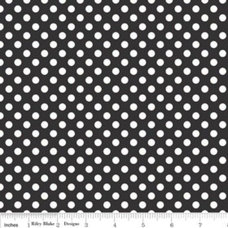 RILEY BLAKE SMALL DOTS - BLACK