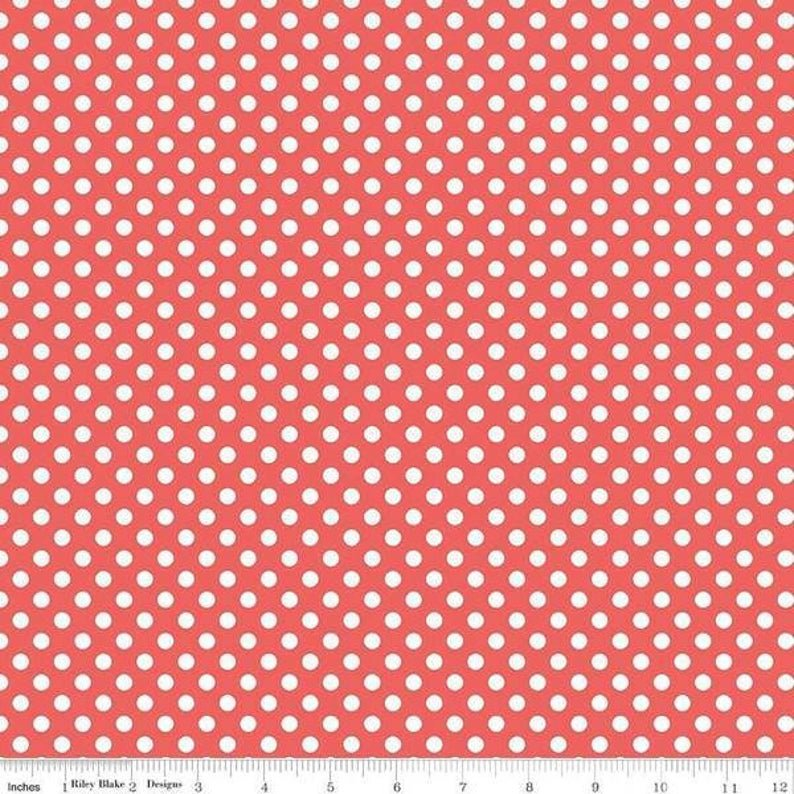 RILEY BLAKE SMALL DOTS - ROUGE