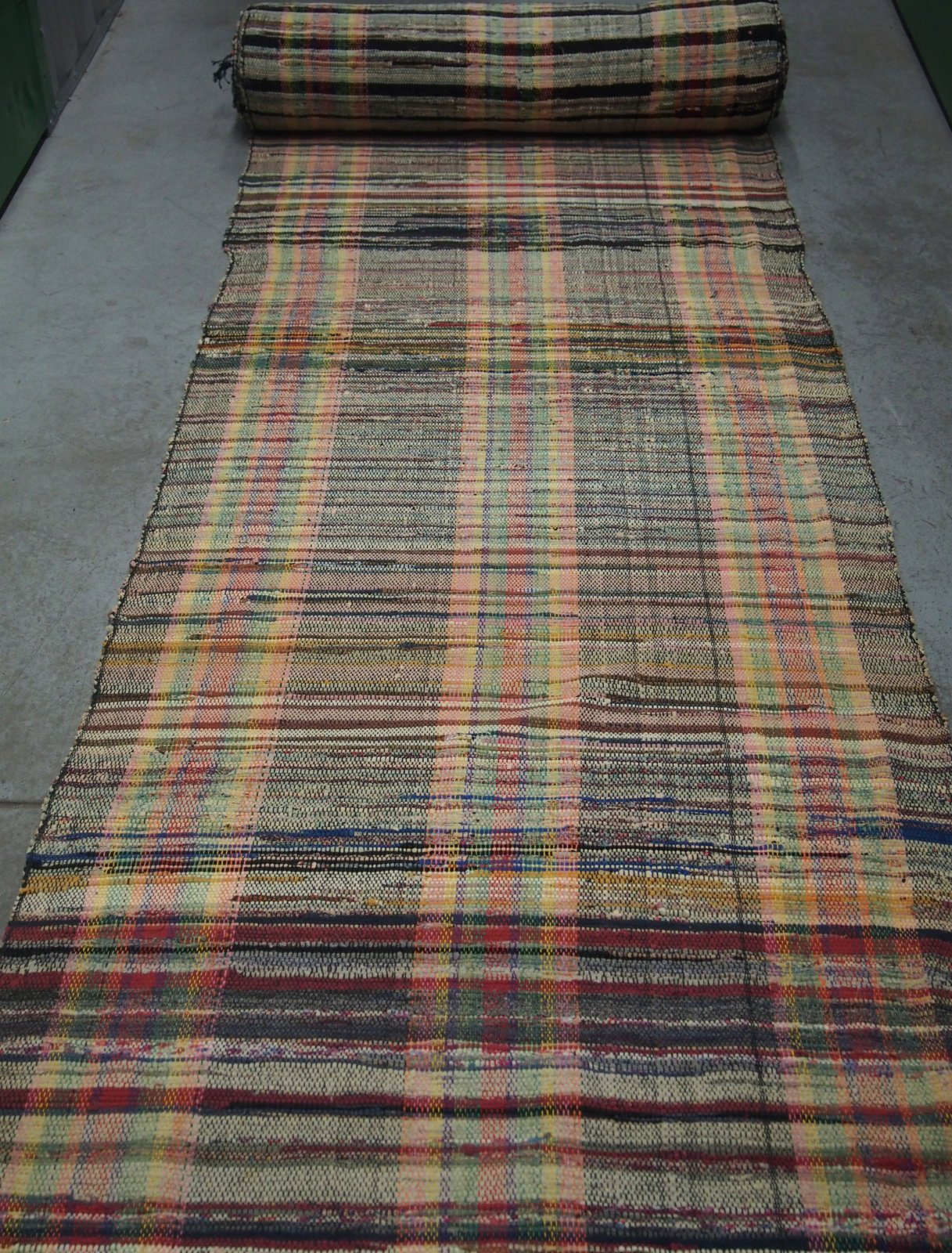 AMISH ANTIQUE RAG CARPET  available in multiple rolls, room size. INQUIRE