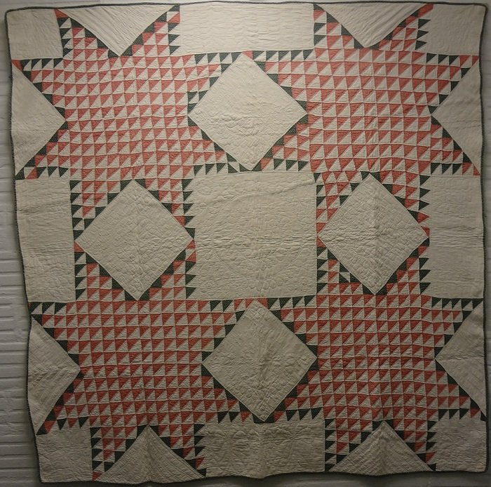 STARS FOUR QUADRANT ANTIQUE QUILT