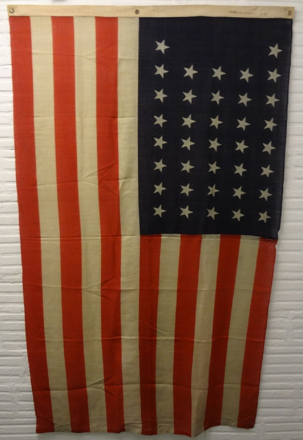 AMERICAN ENSIGN 37 STARS ANTIQUE FLAG