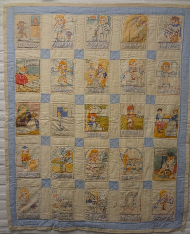 BEWLEYS FLOUR PREMIUMS ANTIQUE CRIB QUILT