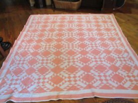 BROKEN GLASS or DELECTABLE MOUNTAIN VARIATION ANTIQUE QUILT