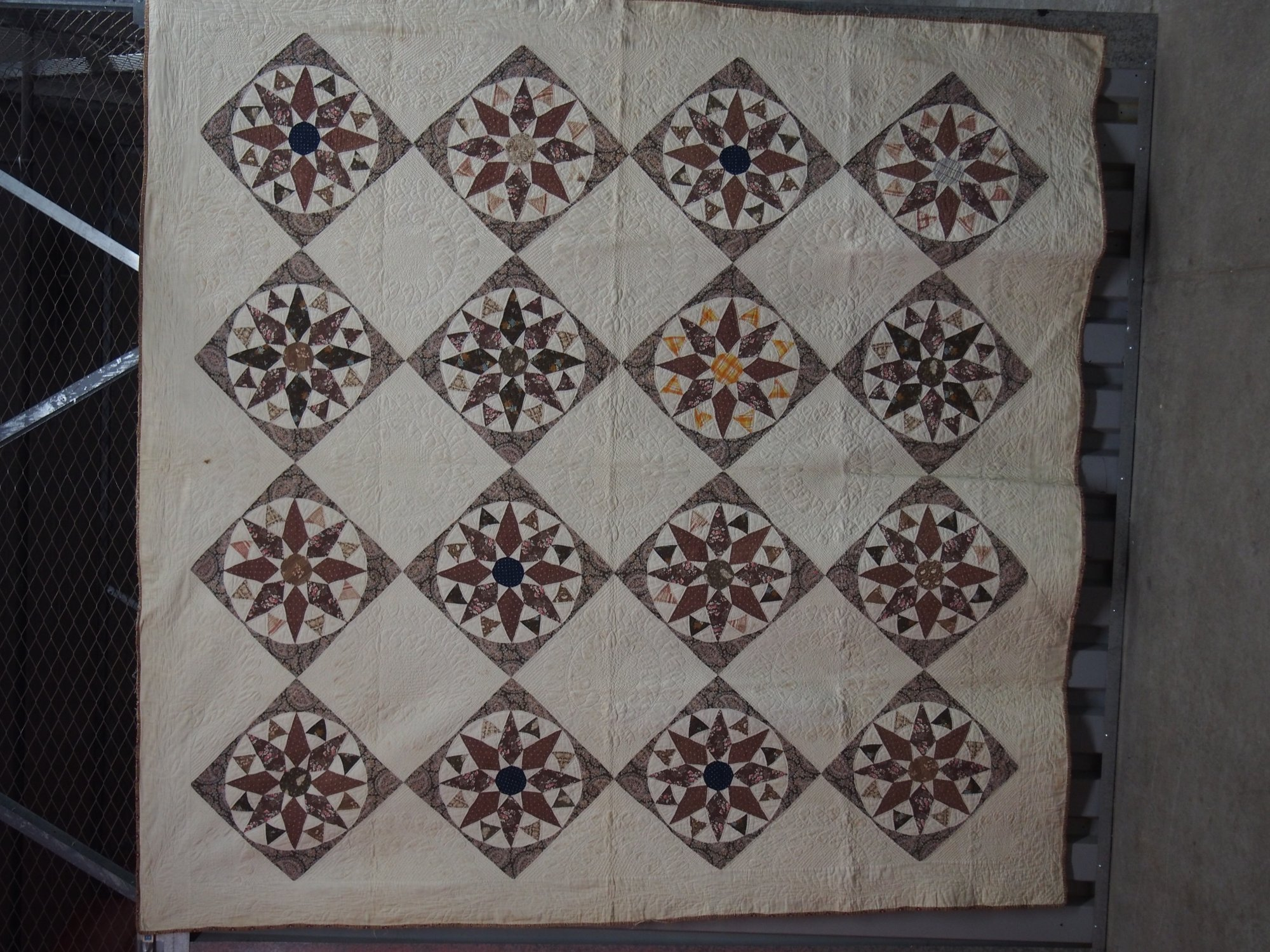 CHIPS AND WHETSTONES ANTIQUE QUILT dated 1835