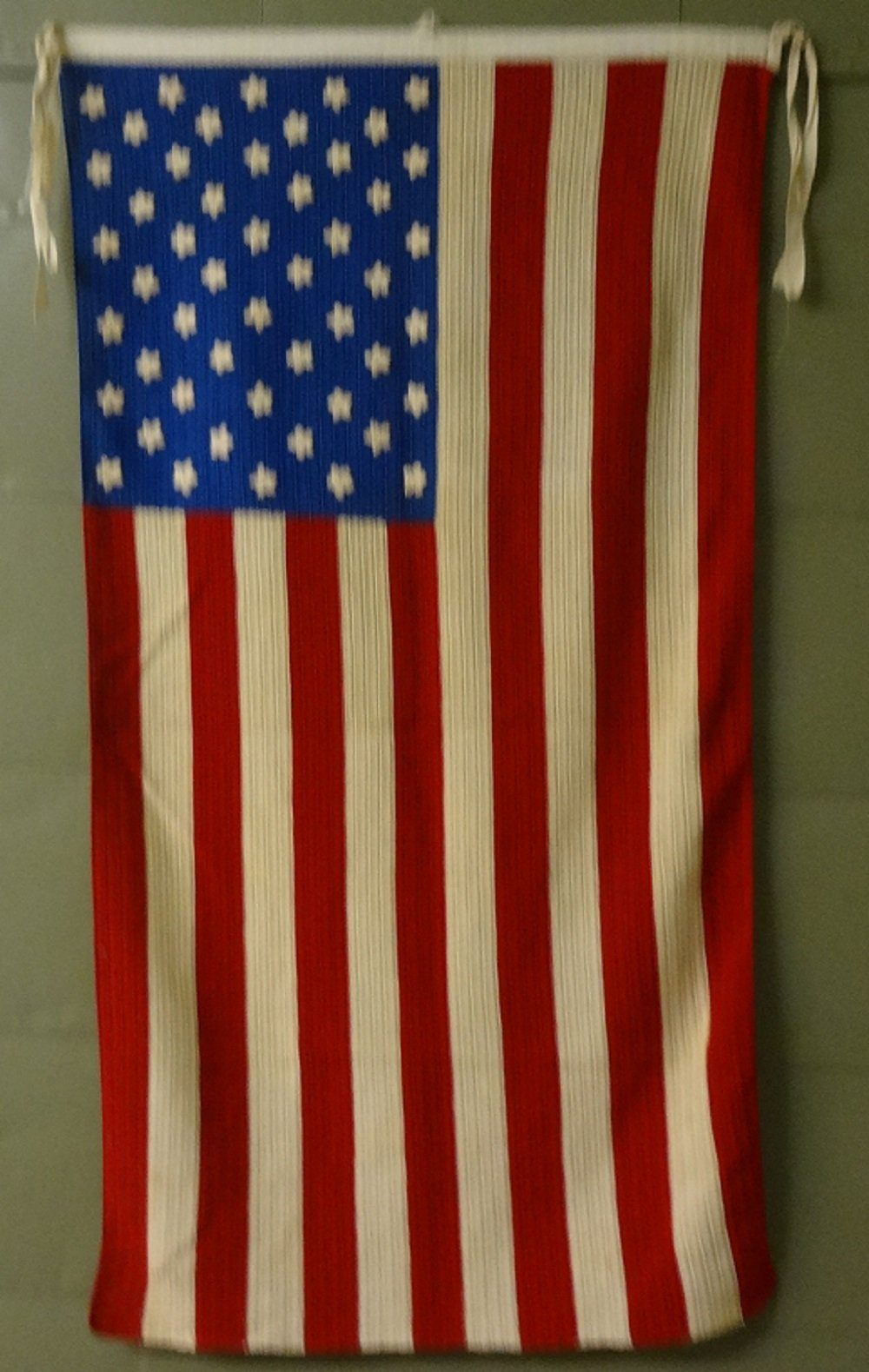 AMERICAN FLAG 50 STARS VINTAGE CROCHET