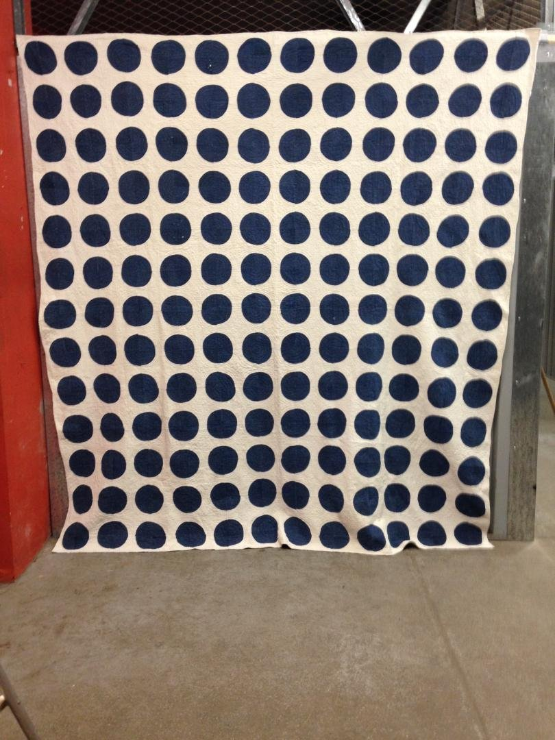 DOTS INDIGO ANTIQUE QUILT