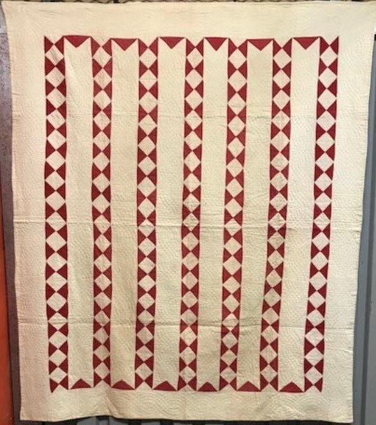 ECONOMY PATCH BARS ANTIQUE QUILT red white