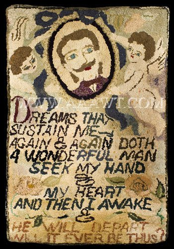 HUTCHINSON DREAMS THAT SUSTAIN ME ANTIQUE HOOKED RUG